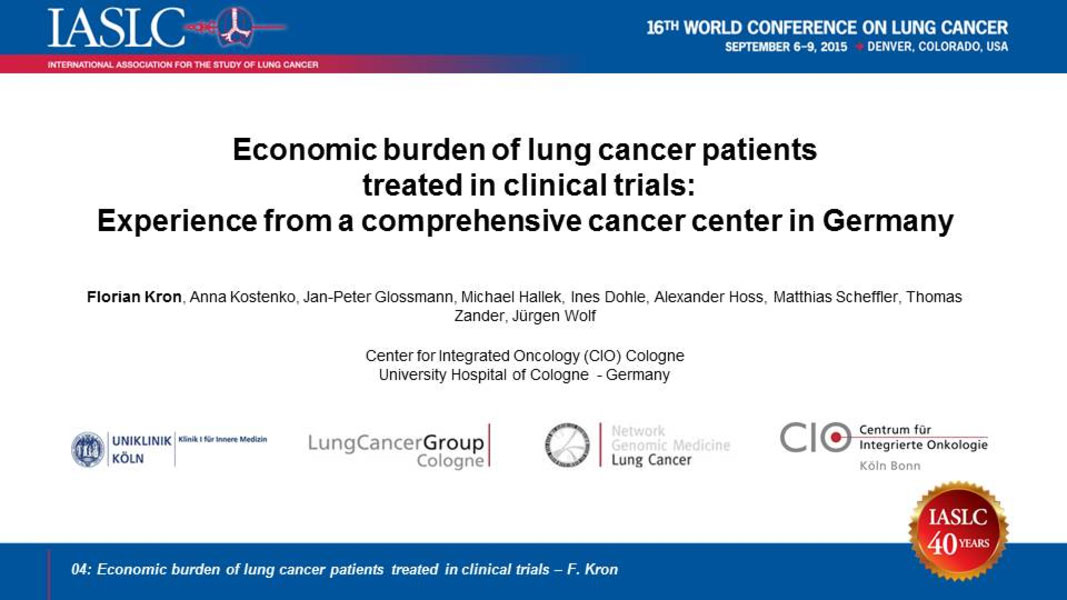 IASLC - 16th World Conference on Lung Cancer